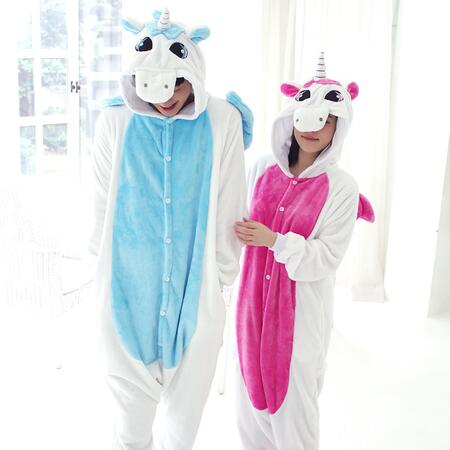 Adults Unicorn Pajamas All in One Pyjama Animal Suit Cosplay Women Winter Garment Cute Animal Unicorn Pajama Sets Winter Costume